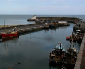Balbriggan harbour high tide