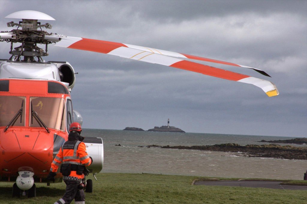Skerries Coast Guard heli training