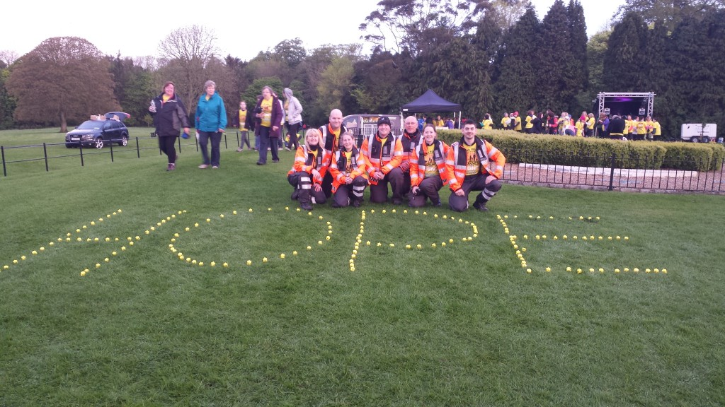 Skerries Coast Guard at Malahide Castle after completing the 2014 5km darkness into light walk